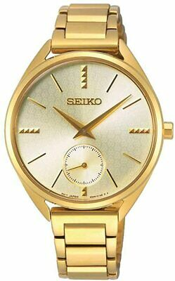 Seiko Conceptual 50th Anniversary Gold Dial Ladies Watch SRKZ50P1 • 149.99£