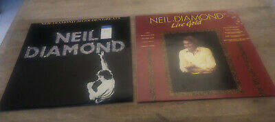 Neil Diamond 2 X Vinyl LPs - 20 Golden Greats - Neil Diamond Live Gild • 4£