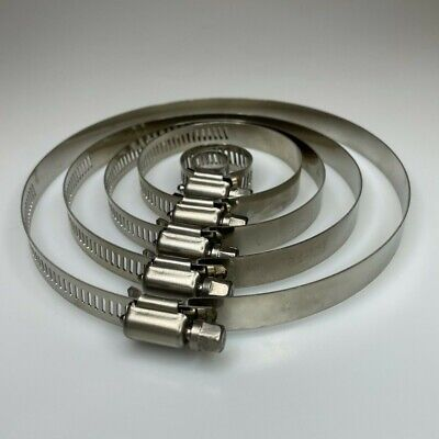 £4.50 • Buy Jubilee Type Worm Drive Clips Stainless Steel Clamps Hose Fuel Pipe 6mm To 140mm