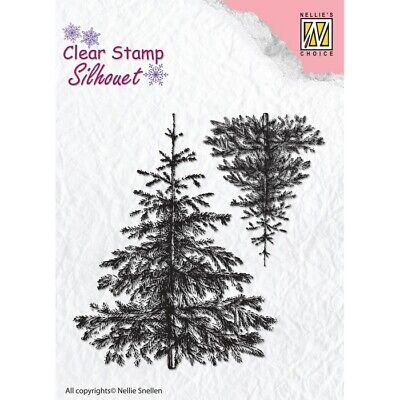 £4.95 • Buy Nellie Snellen/Clear/Christmas Fir Tree / UNMOUNTED/Silicone Stamp/SIL038