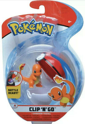 Pokemon - Clip N' Go CHARMANDER & POKEBALL Figure - NEW (FREE P+P) • 22.99£