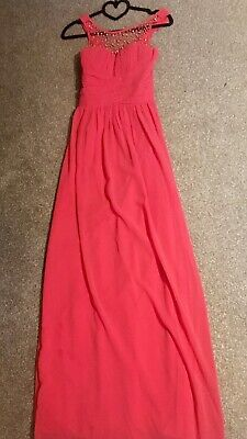 Stunning Salmon Coloured Ball Gown, Size 6-8. Prom, Wedding, Christening • 25£