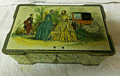 Large Vintage Collectable Clarnico Sweets Tin With Lock • 25£