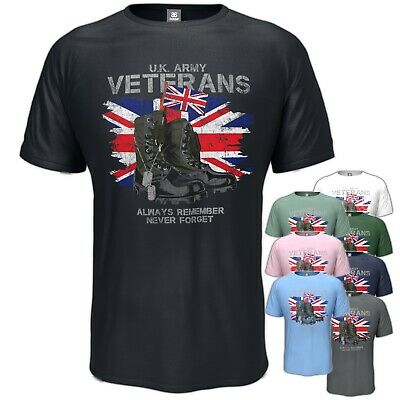Army Veteran T-Shirt UK Forces  Birthday Gift Vintage Style S - 5XL • 11.95£