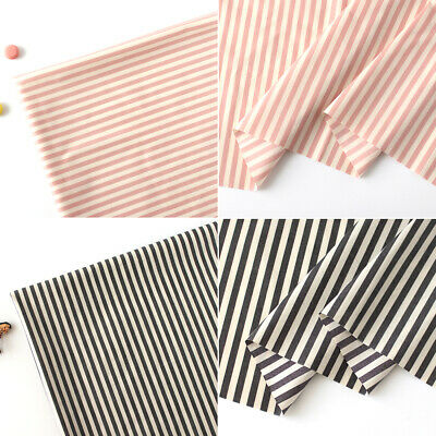 Laminated Cotton Fabric By The Yard Stripe Fabric 39  Wide CM 8mm Stripe  • 10.85£