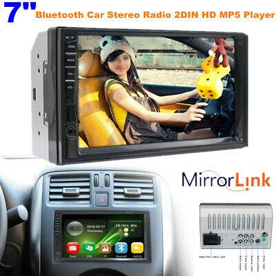$71.99 • Buy 7  Screen Bluetooth Car Stereo Radio 2DIN HD MP5 Player IOS/Android Mirror Link