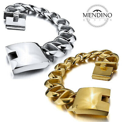MENDINO 22mm Men's Heavy Biker Link Wrist Chain Stainless Steel Bracelet 8.5  • 29.99£