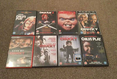 Childs Play 1-8 Dvds Chucky Oop Horror Thriller Rare Complete Collection  • 50£