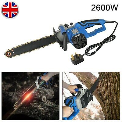Industrial Type Electric  Chainsaw 16 Bar 2600W Cutting Tool For Home & Garden • 54.99£