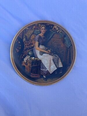 $ CDN12.53 • Buy Norman Rockwell Collectible Ceramic Displayed Plate Rediscovered Women