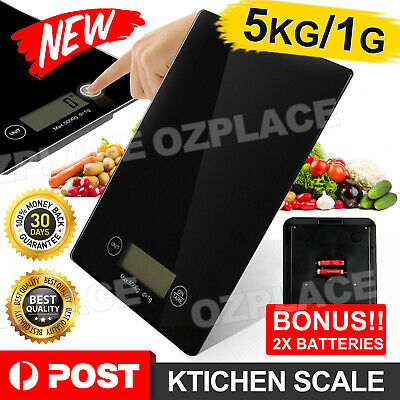 AU13.85 • Buy 5KG/1g Digital Kitchen Scales Electronic Weight Scale Food Fruit Meat Postal New