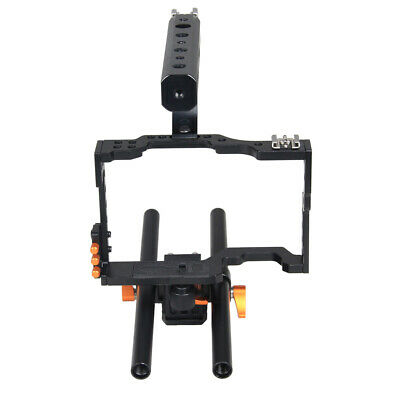 £41.89 • Buy DSLR Rod Rig Camera Video Holder Mount Stabilizer Cage + Handle Grip For Sony A7
