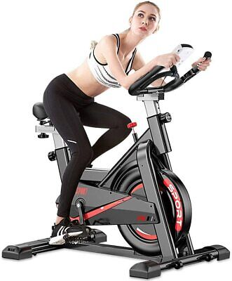 Fnova Exercise Spin Bike Home Gym Bicycle Cycling Cardio Fitness Training Indoor • 221.19£