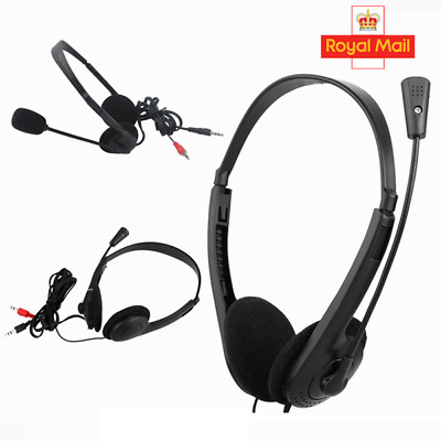 2x Headphones With Microphone USB Noise Cancelling Headset For Laptop UK • 7.35£