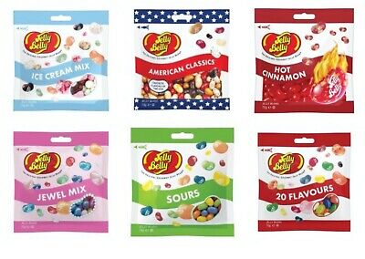 Jelly Belly American Sweets Gourmet Jelly Belly Candy Bags - USA Candy Beans 70g • 4.99£
