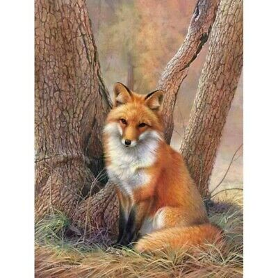 AU16.88 • Buy 5D Full Drill Diamond Painting Fox Embroidery Cross Crafts Kits DIY Decors Gifts