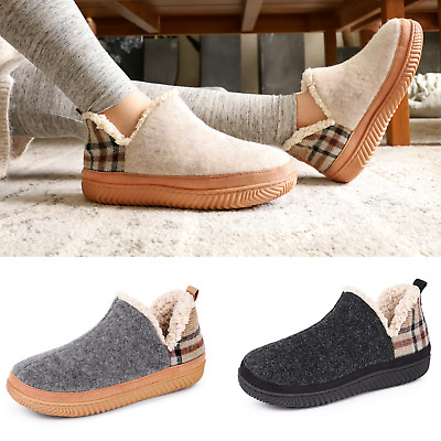 £18.99 • Buy Womens Faux Suede Hi-Top Ankle Boot Slippers Sherpa Lining Moccasin House Shoes