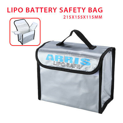 Anti-Explosion Lipo Battery Safe Bag 215x155x115mm Fit RC FPV Drone Storage UK • 12.16£