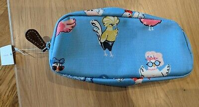 Cath Kidston Hen Party Pencil Case Brand New Oil Cloth Blue Pink White Chicken • 2.50£