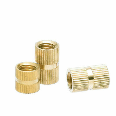 $7.17 • Buy M6 M8 Brass Thread Inserts Nuts Copper Injection Plastic Knurl Nut Various Sizes