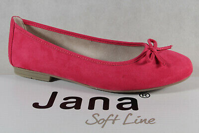 Soft Line By Jana Women's Ballerina Court Shoes Slippers Pink Width H New • 40.78£