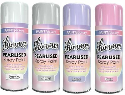 Shimmer Spray Paint Pearlised Unicorn Craft Spraypaint Shining Glitter Effect • 8.99£