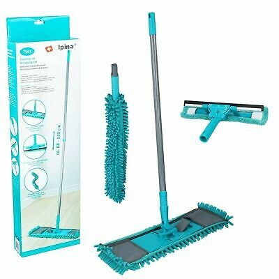 £10.49 • Buy Home Cleaning 7Pcs Set Microfibre Pads Floor Mop Window Cleaner Duster Tools Kit