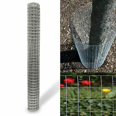 Galvanised Chicken Wire Netting Mesh Net Rabbit Aviary Fence 5m, 13m & 25m Rolls • 12.99£
