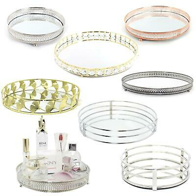 £8.99 • Buy Decorative Mirrored Tray | Tealight Candle Holder Plate |Vanity Perfume Tray