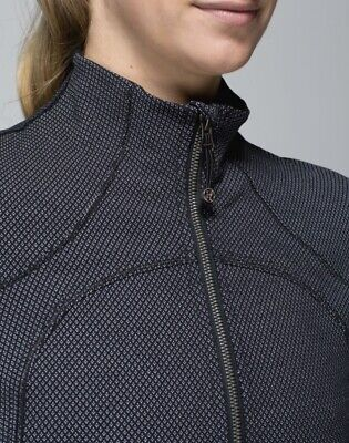 $ CDN79.99 • Buy Lululemon FORME JACKET Diamond Dot Textured Black White Sz 10