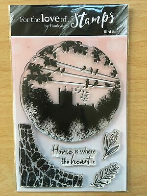 Hunkydory For The Love Of Clear Stamp Set BIRD SONG Church Silhouette • 6.75£