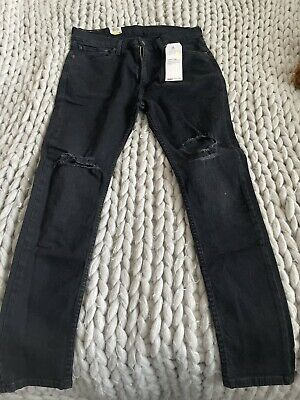 Levis 519 Extreme Skinny Hi-Ball Black Jeans Waist 36 XL New £22. • 22£