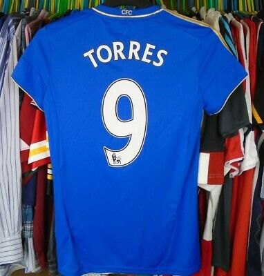 CHELSEA 2012 HOME Adidas FOOTBALL SOCCER SHIRT JERSEY MEDIUM LADIES #9 TORRES • 16.99£