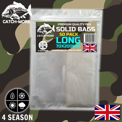 £3.50 • Buy CatchMore PVA Solid Bags, 70x120 Slim, 80x100 Standard, 100x120 Wide 70x200 Long
