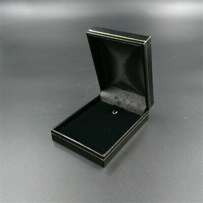 AU15.46 • Buy Black Leatherette Velvet Jewellery Presentation Pendant Charm Necklace Gift Box