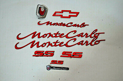 $69.99 • Buy 00 01 02 03 04 05 Chevrolet Monte Carlo Ss Red Emblems Badges Decals Lot Oem