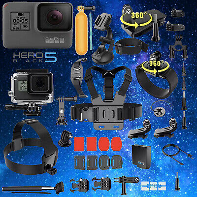 $ CDN288.99 • Buy GoPro Hero 5 Black Edition Action Camera + 40PCS/Set Sports Accessory Bundle