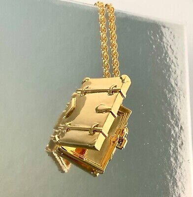 $ CDN211.49 • Buy NWT❤️Kate Spade Gold Pl Pack Your Bags Suitcase Locket Necklace GIFT BOX Bridal