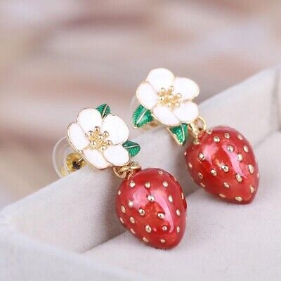 $ CDN134.70 • Buy Signed Kate Spade Picnic Perfect Strawberry Blossom Flower Earrings