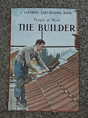 Vintage Ladybird People At Work Book The Builder  606b   • 7.99£