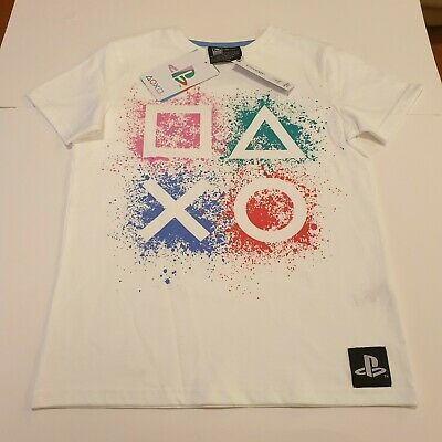 £9.99 • Buy George Asda PlayStation White T-Shirt Gaming Game Kids Age 8-9 New With Tags