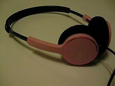 Sony MDR-222 Headphones Wired Over The Ear PINK Small Adjustable Tested  • 7.15£