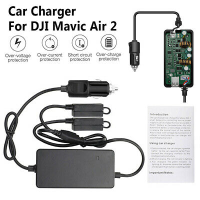 AU35.05 • Buy 3 In 1 Car Charger Battery Remote Control Charger Dock For DJI Mavic Air 2 Drone