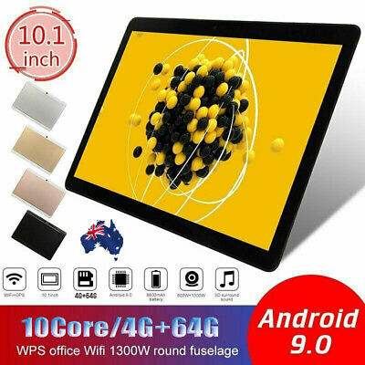 AU109.69 • Buy 10.1  Inch Tablet PC HD Android 9.0 4+64GB WIFI Dual SIM Camera GPS Phablet Gift