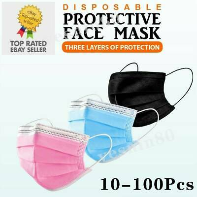 AU18.85 • Buy 50/100PCS Face Mask High Protective 3 Layer Mouth Masks Disposable Mask Surgical