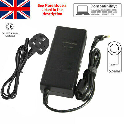 £9.99 • Buy Toshiba 19v 3.95a Pa3715e-1ac3 N17908 V85 Laptop Charger Adapter
