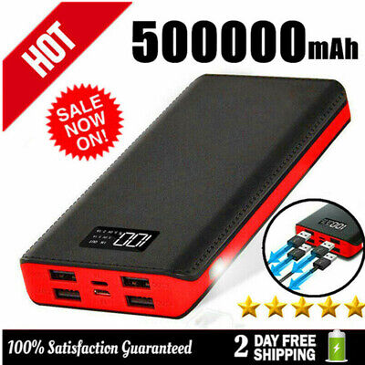 AU26.99 • Buy Fast Charging 500000mAh Power Bank 4USB Portable Battery Charger For Phone Pack