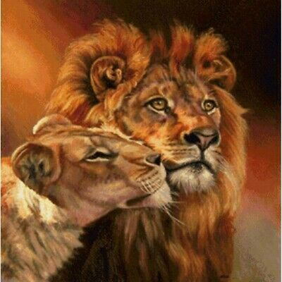 AU15.99 • Buy 5D Full Drill Diamond Painting Mosaic Cross Stitch Lion Craft Art Decor Gifts