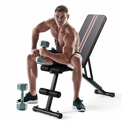 Weight Bench Adjustable, Full Body Exercise Folding Fitness Workout Bench UK • 94.79£