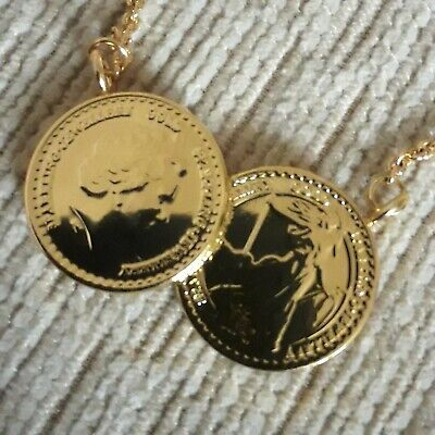 £30 • Buy Gold Double Coin Necklace
